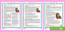 * NEW * April Fools' Days KS2 Differentiated Fact File