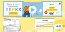 PlanIt - RE Year 2 - Rules and Routine Lesson 5: The Five K's (Sikhism) Lesson Pack