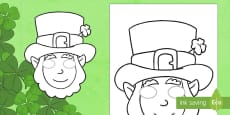 St. Patrick's Day Leprechaun Masks Role Play Mask