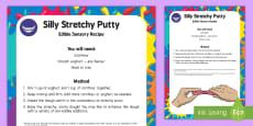 Silly Putty Edible Sensory Recipe