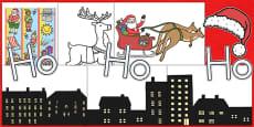 Australia - Ready Made Santa Sledge Christmas Display Pack