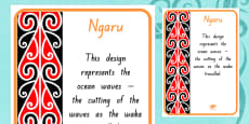 Ngaru Pattern A4 Display Poster