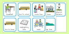 My First Day of School Went like This Story Sequencing Cards USA
