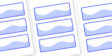 Raindrop Themed Editable Drawer-Peg-Name Labels (Colourful)