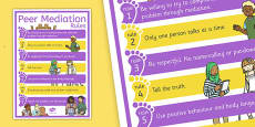 Peer Mediation Rules Poster