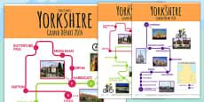 Tour de France 2014 Large England Route Maps