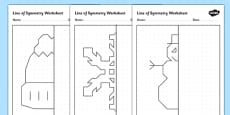 Winter Themed Symmetry Activity Sheets