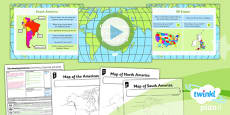 PlanIt - Geography Year 6 - The Amazing Americas Lesson 1: Continents, Countries and Cities Lesson Pack