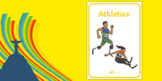 The Paralympic Events Athletics Display Posters