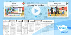 * NEW * PlanIt Y3 Measurement Lesson Pack Length (8)