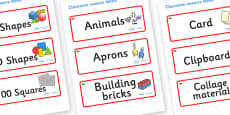 Wales Themed Editable Classroom Resource Labels