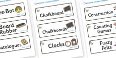 Lemur Themed Editable Drawer-Peg-Name Labels
