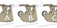 A-Z Alphabet on Sloths