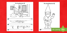 The Scandinavian Elf Colouring Pages