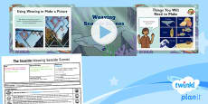 PlanIt - Art UKS2 - The Seaside Lesson 4: Weaving Seaside Scenes Lesson Pack