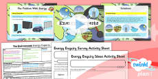 PlanIt - Science Year 2 - The Environment Lesson 3: Energy Experts Lesson Pack