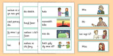 Greetings Flashcards Cymraeg