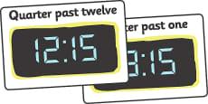 Digital Clocks - Quarter Past (24 Hour)