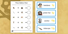 Pirate Shopping Addition up to 20p Activity Pack
