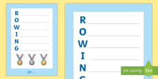 * NEW * Rowing Acrostic Poem
