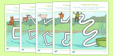 A Special Outing Pencil Control Path Worksheets