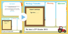KS1 Visual Timetable Interactive PowerPoint Autumn