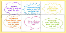 What to do When Stuck Display Speech Bubbles