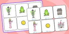 The Frog Prince Matching Cards and Board