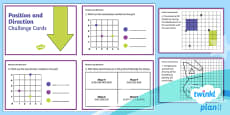 PlanIt Y4 Position and Direction Challenge Cards