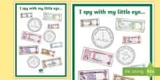 * NEW * UAE Money I Spy Activity