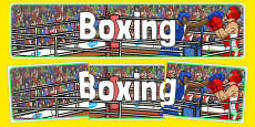 The Olympics Boxing Display Banner