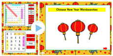Chinese New Year Story Interactive Wordsearch