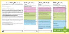 Year 1 Writing Checklist