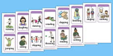 Simple Action Charades Cards