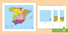 * NEW * Tapiz de Bee Bot: Las provincias de España