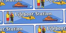 Lifeboat Station Display Banner