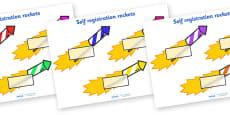 Editable Self Registration Labels (Firework Rockets)