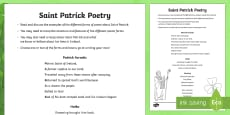 * NEW * St. Patrick Poetry Activity Sheet