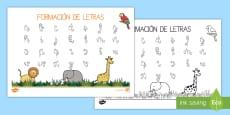 La jungla tapiz de formación de letras