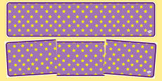 Lilac with Yellow Stars Editable Display Banner