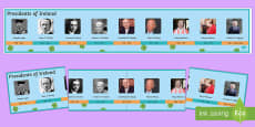 Presidents of Ireland Display Timeline