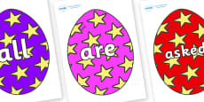 Tricky Words on Easter Eggs (Stars)