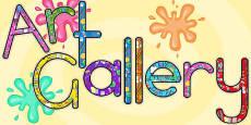 Art Gallery Display Lettering (Australia)