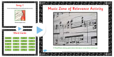 Zone of Relevance Music Describing Activity Pack