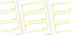 Duckling Themed Editable Drawer-Peg-Name Labels (Blank)