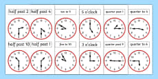 Analogue Clocks Work Sheet