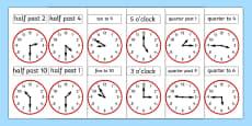 Analogue Clocks Work Sheet
