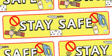 Stay Safe Display Banner