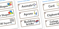 Squirrel Themed Editable Classroom Resource Labels