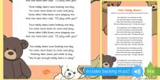 Five Teddy Bears Song